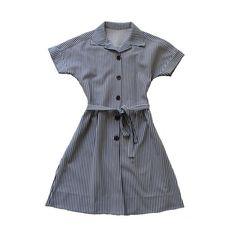 VINTAGE 70's / enfant / robe / rayures / bleu par Prettytidyvintage, €20.00