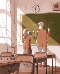 Cute Couple Drawings, Cute Couple Art, Anime Love Couple, Cute Drawings, Cute Couple Wallpaper, Anime Scenery Wallpaper, Anime Couples Manga, Cute Anime Couples, Desenhos Gravity Falls
