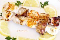 Spiedini di pesce grigliati