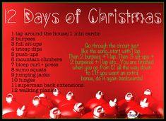 12 Days of Christmas Workout via HomeFieldFitness.org