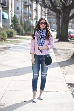Pinks and Blues Fashion Pants, Girl Fashion, Fashion Outfits, Sexy Jeans, Ripped Jeans, Boyfriend Jeans Outfit, Leather Jacket Outfits, Cute Casual Outfits, Spring Outfits