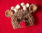 Baby Reindeer Hat, Boys or Girls  -  Many Sizes - Preemie, Newborn, Infant