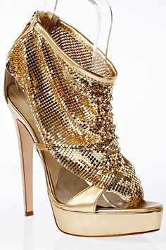 Brian #Atwood Gold Sequin Ankle Boots Spring Summer 2012 #golden #Shoes