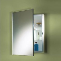 "NuTone 473FS Basic Styleline Recessed 16""W x 22""H Stainless Steel Trim Mirror Medicine Cabinet by Nutone. $129.99. Includes Light Fixture: No. Adjustable Shelves: Yes. Installation type: Recess Mount. Shape: Rectangle. Mirror Edge Type: Flat. Styleine is all about Options. It's our Classic, Single-door Cabinet Series that comes in a Broad Range of Sizes in both Steel and Molded Cabinet Bodies. NuTone 473FS Basic Styleline Recessed Steel Cabinet Mounting: Recess..."