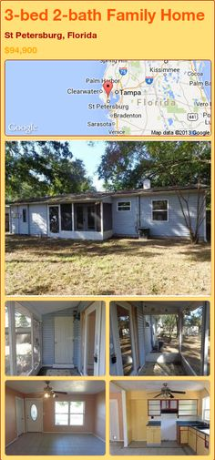 3-bed 2-bath Family Home in St Petersburg, Florida ►$94,900 #PropertyForSale #RealEstate #Florida http://florida-magic.com/properties/91269-family-home-for-sale-in-st-petersburg-florida-with-3-bedroom-2-bathroom
