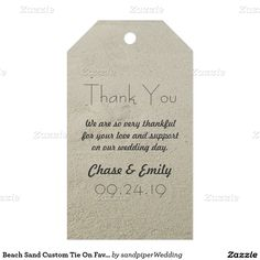 Beach Sand Custom Tie On Favor Tags Pack Of Gift Tags