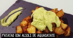Patatas con alioli de aguacate