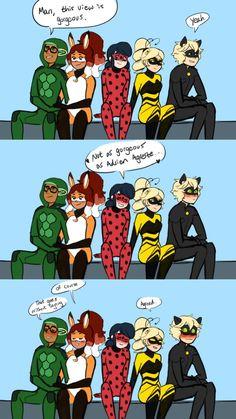 """aDriEn"""" i see u ( ͡° ͜ʖ ͡°) Meraculous Ladybug, Ladybug Comics, Ladybug Cakes, Funny Memes, Hilarious, Miraculous Ladybug Fan Art, Lady Bug, Disney Memes, Funny Comics"""