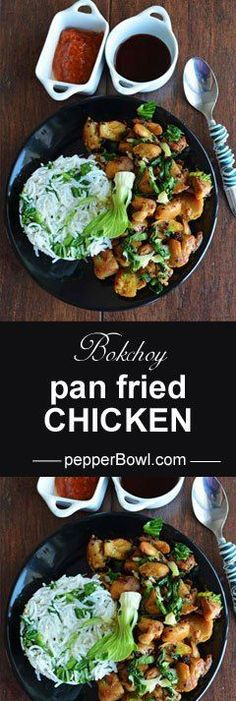 Bok choy chicken, is very easy recipe made with bok choy and garlic. easy to make   http://pepperbowl.com