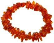 """Bracelet Ambre Brun. Bracelet en ambre brun véritable monté sur un élastique. L'ambre brun est aussi appelé """"ambre cognac"""", il agit plus particulièrement sur le corps physique et éthérique, il aide à la bonne santé du corps."""