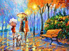 Golden Autumn painting by Dmitry Spiros