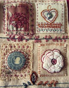 http://bethleintz.typepad.com/gathering_dust/2013/01/art-quilts-and-samplers-no-brainer-books-and-the-woolies.html  Pinterest de Cíça Mora, Brasil