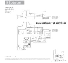 queens peak floor plan 3 bedroom-c4