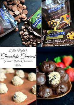 (No Bake) Chocolate Covered Peanut Butter Cheesecake Bites from willcookforsmiles.com