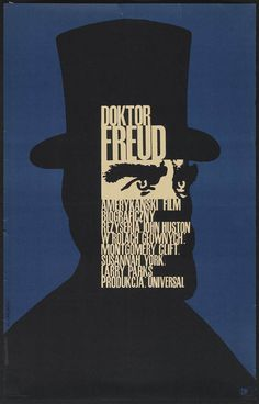 24X36Inch Art DOCTOR FREUD Movie Poster  Czech Polish Rare P40 #PopArt