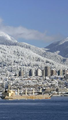 Snow Covered Vancouver Canada