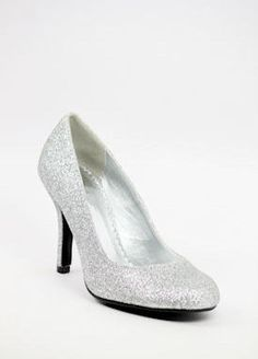 """Silver shoes with 3"""" heels (Style 400-5)"""
