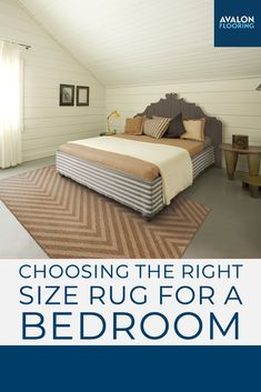 Get the top tips for choosing the perfect size area rug for your bedroom!