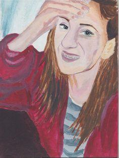 A4 Acrylic Self Portrait for my FMP 2015 - 'Braces' - 2011