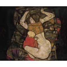 Young Mother 1914 Canvas Art - Egon Schiele (18 x 24)