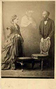 F. Hudson, Mr. and Mrs. Shorter, Georgiana  Houghton, medium, 1873