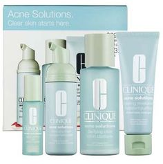 Clinique Acne Solutions- this stuff works! I use it for oil control, not necessarily acne. It's the only stuff I have found that works. Clinique also has the acne solutions make-up line to go with it, that I also use. I would never use anything else!