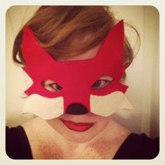 Red Fox Mask- ADULT. $16.00, via Etsy.