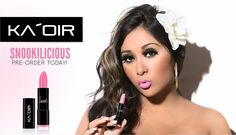 "New Jersey Shore Very Own Nicole ""Snooki"" Polizzi Has Her Very Own Shade Of Lipstick That Is Sold Online Only At Kaoir.com. In Honor Of Her Signing Her Endorsement Deal With Ka'Oir Cosmetics. CEO Keyshia Ka'Oir Named Snooki Lipstick ""Snookilicious""! Shop online at kaoir.com for this and mor beautiful shades of lipsticks, nail lacquers, eyeshadows, & lip pops!!!"