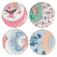 Wedgwood, 'Butterfly Bloom' Dessertteller-Set 4-tlg. 20 cm 81,60 Euro
