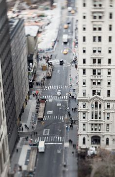 New York street tilt-shift photo