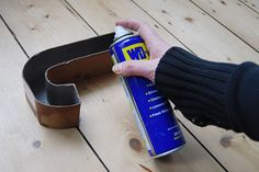 DIY Concrete letters #2 Spray the inside of the mould with WD40. It'll provide a kind of slippery layer to the mould which will stop the concrete sticking to it.