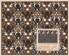File:Print, Vorsatz Papier Sternblume (Star Flower Book End Paper), plate in Die Quelle- Flächen Schmuck (The Source- Ornament for Flat Surfaces), 1901 (CH - Wikimedia Commons Koloman Moser, E Design, Pattern Design, Motifs Art Nouveau, Harvard Art Museum, Google Art Project, Vienna Secession, Aubrey Beardsley, Star Wars