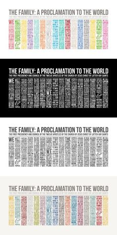 LDS Family Proclamation Instant Download by simplyfreshdesigns