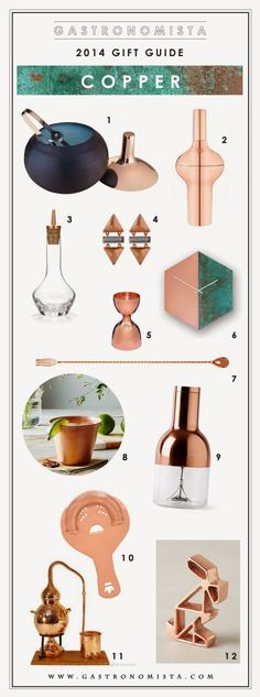 Gastronomista: Holiday 2014 Gift Guide - Copper