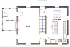 Center hall colonial remodeling floor plan.