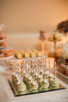 An Elegant Silver and Ivory Wedding at Fairmont Royal York - WedLuxe Magazine Desert Bar, Desert Ideas, Ivory Wedding, Wedding Desert, Wedding Reception, Sparkle Wedding Cakes, Cake Truffles, Cupcakes, Cookie Table