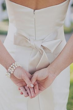 #wedding gown with a bow | Our Labor of Love