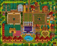 Share and discuss the farm designs you've created in Stardew Valley! Stardew Farms, Stardew Valley Farms, Stardew Valley Layout, Stardew Valley Tips, Best Greenhouse, Farm Layout, Wooden Greenhouses, Green House Design, British Garden