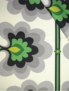 "HGTV HOME FABRIC Flower Tower Malachite.  Graphic Control Collection. 100% cotton slub duck fabric. Multi purpose for any home decorating project. Repeat; V 25.25"", H 13.5"". Made in U.S.A. 54"" wide."
