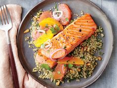 Sautéed Salmon with Citrus Salsa | Finding recipes for two doesn't mean you have to be stuck with lots of leftovers. These delicious dinners for two range from weeknight classics to anniversary-worthy dining events. Most of these recipes are easily ready long before take out pizza could arrive on your doorstep. Tonight, try an inspired recipe for two that will bring fun back to the kitchen and flavor to the table. Whether you're ready to roll your own spring rolls or dying to fire up the…