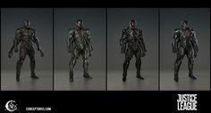 ArtStation - Justice League Cyborg , Ville-Valtteri Kinnunen