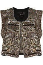 Inspiration: Isabel Marant   Wolf embellished cotton vest   NET-A-PORTER.COM