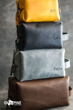Our dopp kits come in four sizes and five colors, so you can find exactly the right combination for you. You can personalize it just for you, or give it as a gift for really anyone in your life Dopp Kit, Leather Gifts, Leather Journal, Graduation Ideas, Ox, Her Style, Travel Inspiration, Pine, Just For You