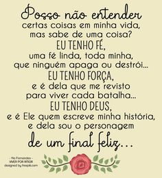 Imagem relacionada Positive Mind, Positive Thoughts, Positive Vibes, Portuguese Quotes, Peace Love And Understanding, Facebook Quotes, Love You So Much, Peace And Love, Positivity