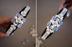 DIY a Dolce and Gabbana tiara. Pearl Headband, Diy Headband, Headbands, Headband Tutorial, Diy Tutorial, Diy Jewelry Projects, Diy Wedding Projects, Wedding Ideas, Star Fashion