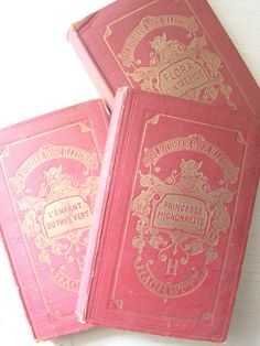 ♔ Antique French books
