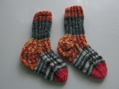 Hand Knit baby Socks 12/18 months Opal Sock yarn by SpruceCottageKnits on Etsy