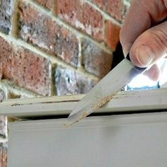 An old knife instead of sandpaper can be used to distress the edges of painted furniture easily.--Looksi Square