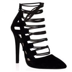 Tazmin Heeled Sandals (more colours) (265 BRL) ❤ liked on Polyvore featuring shoes, sandals, high heel sandals, cutout shoes, heeled sandals, cut-out shoes i cut out sandals