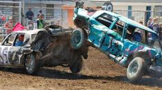 In the past, my family ran in demolition derbies. I rode with my father when I turned 16 years old and loved it. He helped me build a car after I graduated and I got 3rd place my first time. Smash Em' Up Demo Derby (22 Photos)